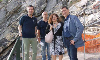 Zoagli, Giampedrone e commissario sulla passeggiata