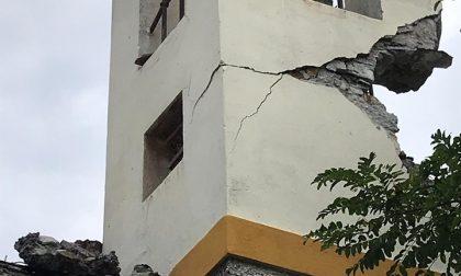 Pieve Ligure, il maltempo danneggia il campanile della chiesetta di Santa Croce