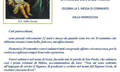 Pila saluta il parroco don Enzo