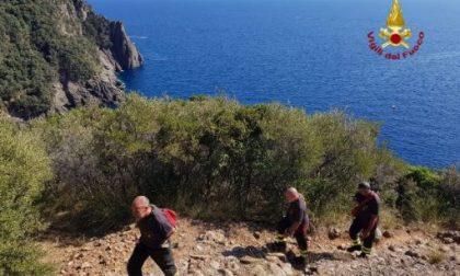 Camogli, escursionista soccorso dai vigili del fuoco