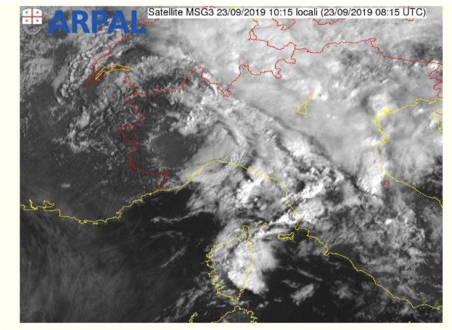Confermata la chiusura dell'allerta meteo gialla sulle zone B, C, e alle 14 di oggi lunedì 23 settembre