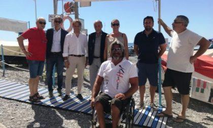 Sori, inaugurato il nuovo accesso in spiaggia per disabili