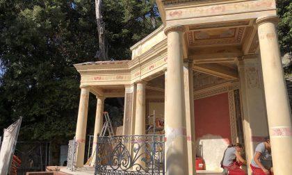Tempietto pompeiano di Villa Rocca a Chiavari, iniziati gli interventi di restauro