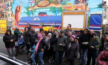 Ragazzi disabili ospiti del Luna Park a Lavagna