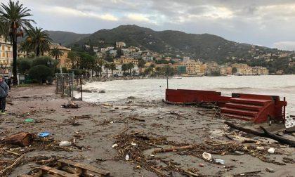 Rapallo colpita dalla mareggiata nella notte