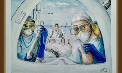 """""""Contatto umano, la cura"""", il disegno per l'ospedale"""