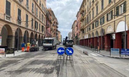Chiavari, proseguono i lavori di asfaltatura