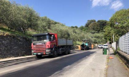 Chiavari, proseguono gli interventi di asfaltatura