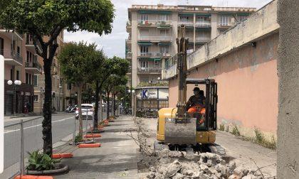 Demolito il muro di corso De Michiel
