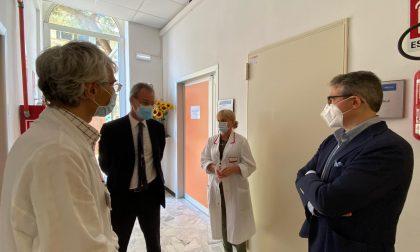 Recco, Gandolfo e Rosso all'ex ospedale Sant'Antonio per ringraziare il personale