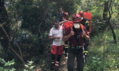 Vigili del Fuoco soccorrono escursionista