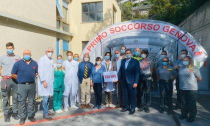 Coronavirus, il San Martino smonta la tenda pre-triage