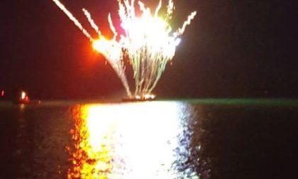 Fuochi d'artificio per il compleanno del figlio di Berlusconi