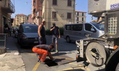 Chiavari, interventi alla rete delle acque nere e bianche in via Piacenza