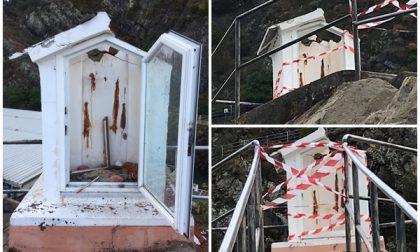 Cappelletta votiva distrutta dal fulmine a ridosso del Porto di Sestri Levante