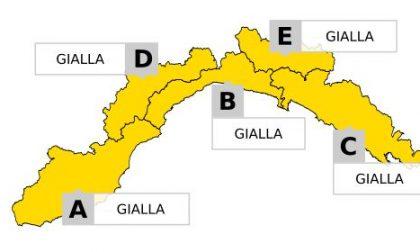 Arpal, allerta gialla su tutta la Liguria