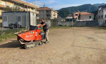 Via ai lavori di riqualificazione del campetto di Panesi a San Salvatore