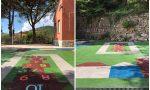 Piastrelle antitrauma alla scuola di Santa Vittoria