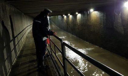 Maltempo, nella notte allagato il sottopasso di via Nazionale