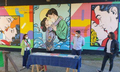Inaugurato il murale dedicato a chi ha affrontato l'emergenza sanitaria