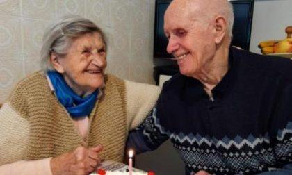 Giovanna Olcese e Luigi Reverello hanno festeggiato quasi settant'anni insieme