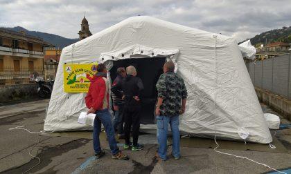 Nuova tenda pneumatica a Santa Margherita