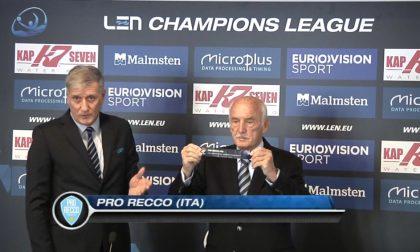 Champions League, sorteggiato il girone della Pro Recco