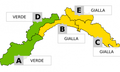 Allerta gialla prolungata sul Levante