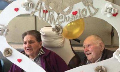60 anni di matrimonio alle Opere Pie