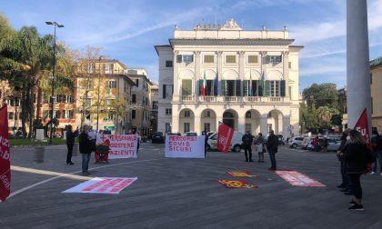 Manifestazione dei lavoratori della sanità