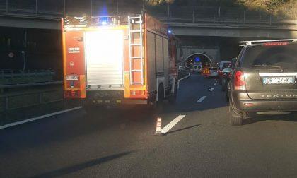 Incidente autostradale tra Genova Nervi e Recco