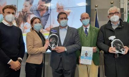 Consegna simbolica di 800 maschere protettive dono di Babboleo agli ospedali