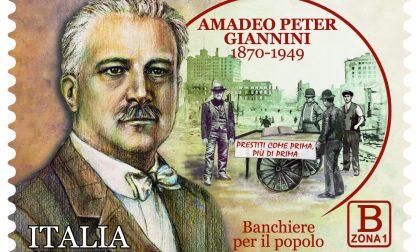 Il francobollo che commemora il banchiere gentiluomo Amedeo Peter Giannini