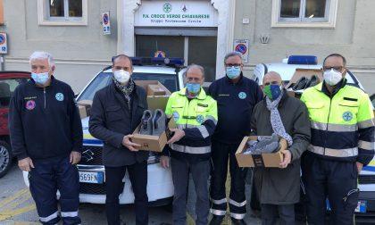 La Protezione Civile riceve dalla Conad una fornitura di scarpe antinfortunistiche