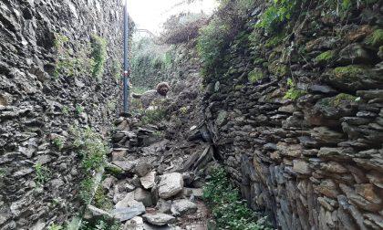 Frana sulla Mandrella, sentiero non percorribile