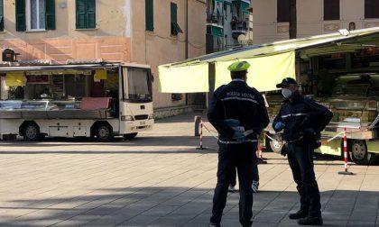 Protesta degli ambulanti a Santa Margherita