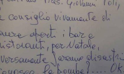 "Lettera minatoria a Toti: ""Apra i bar o faremo disastri"""