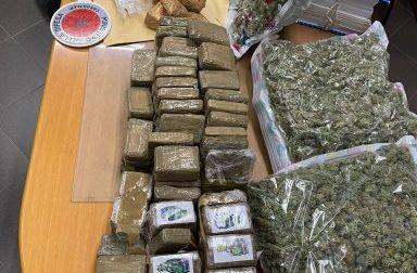 Scoperto un deposito di droga: sequestrati 40 chili di cocaina, hashish e marijuana