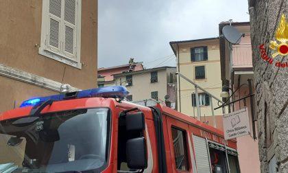 Incendio canna fumaria a San Colombano