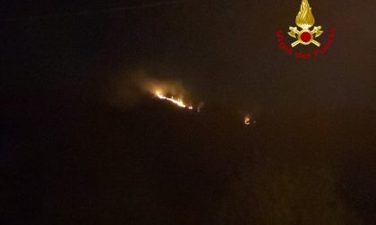 Incendio sul Monte Caucaso