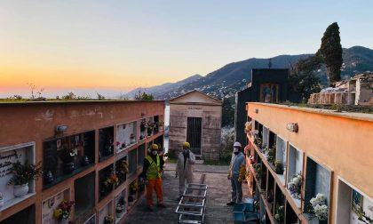 Crollo falesia Camogli, aperto il centro operativo avanzato