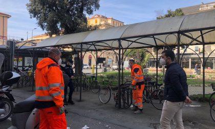 Rimosse bici abbandonate