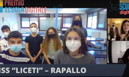 Scuola Digitale, premiati i ragazzi di Rapallo