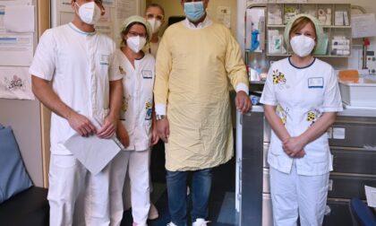 La campionessa Salis visita i pazienti del Gaslini