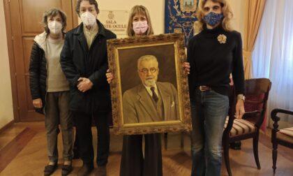 Un ritratto di Oreste Ocule donato dalla famiglia al Comune