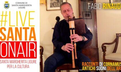 #livesanta on air : lunedì alle 21 appuntamento con Fabio Rinaudo e le sue cornamuse