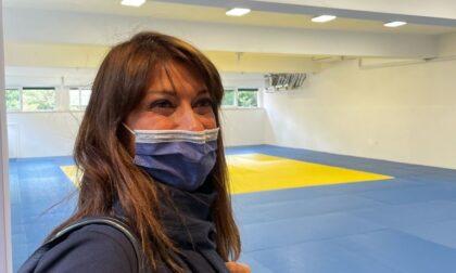 Simona Ferro in visita agli impianti sportivi della città