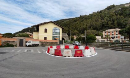 Zona Preli. Una nuova rotatoria in largo Canepa