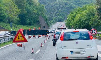 Due code in autostrada per lavori