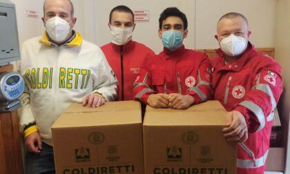 La Croce Rossa di Gattorna sostiene la raccolta di generi alimentari per le famiglie in difficoltà  realizzata dalla Coldiretti Genova